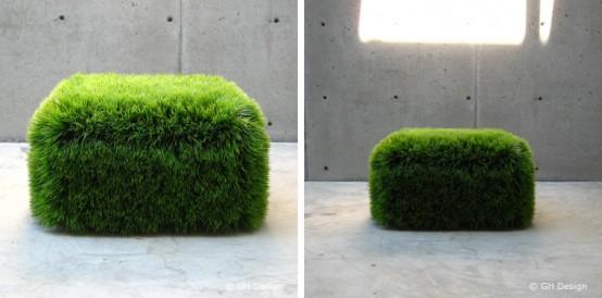 zielona pufa